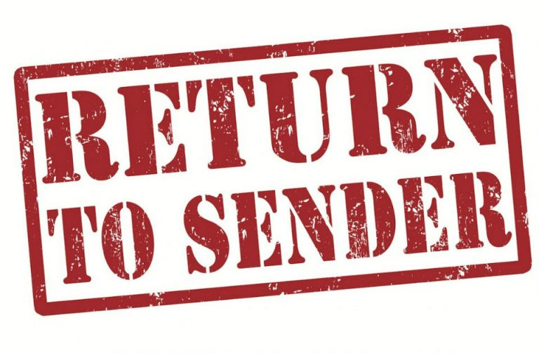 Return to Vendor should not become Return to Sender